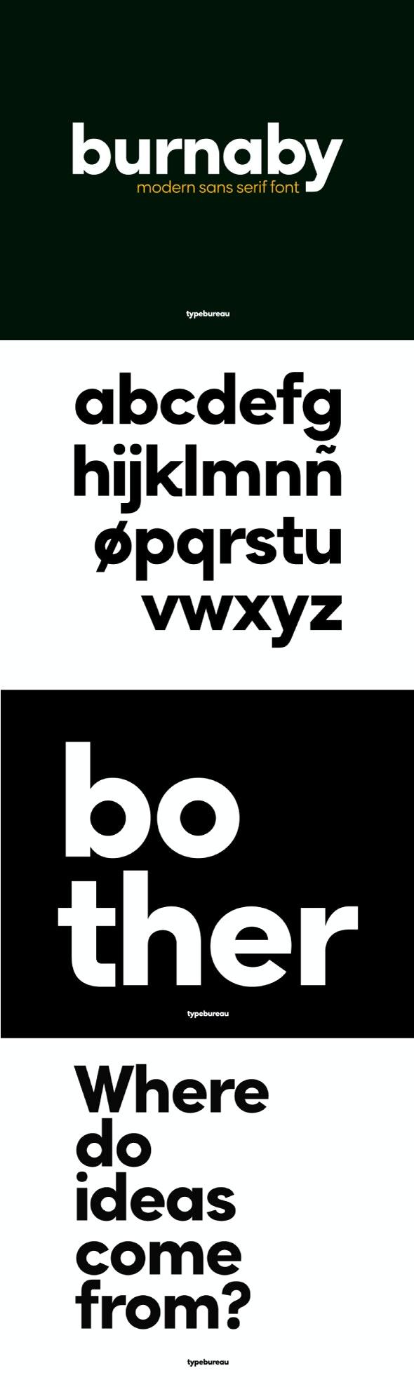 Burnaby Sans Font - Sans-Serif Fonts