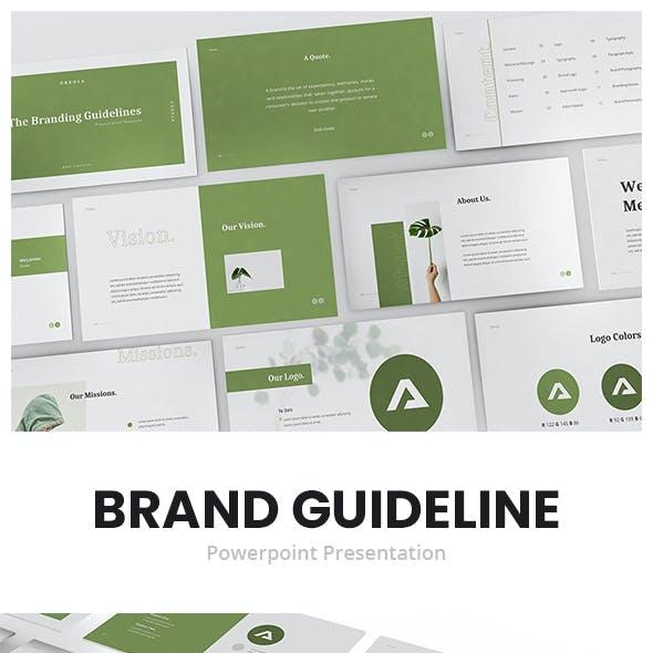 Oreola Branding Guidelines Powerpoint Template