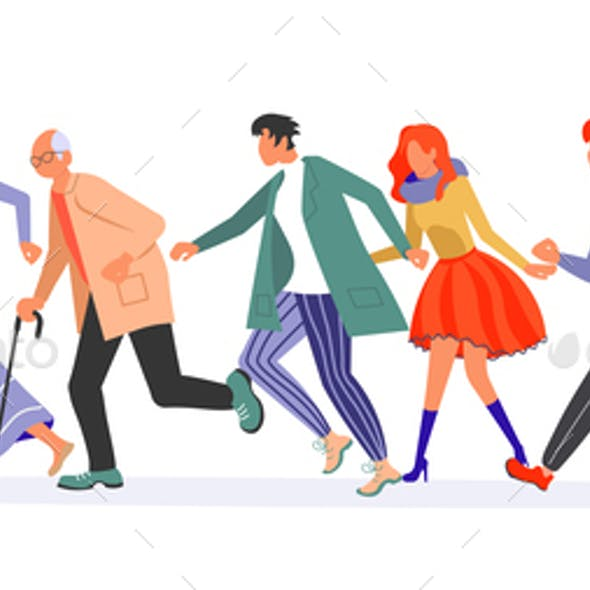 Running People Group Banner