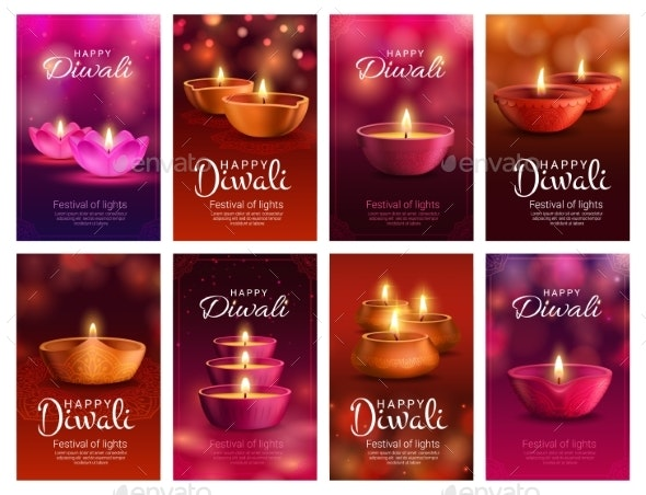 Diwali, Deepavali Diya Lamp, Indian Light Festival - Seasons/Holidays Conceptual