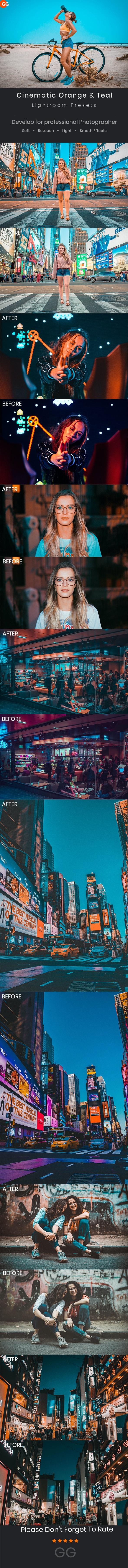 30 Cinematic Orange & Teal Lightroom Presets - Cinematic Lightroom Presets