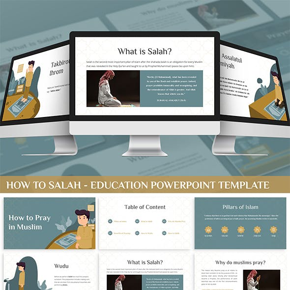 How to Salah - Education Powerpoint Template
