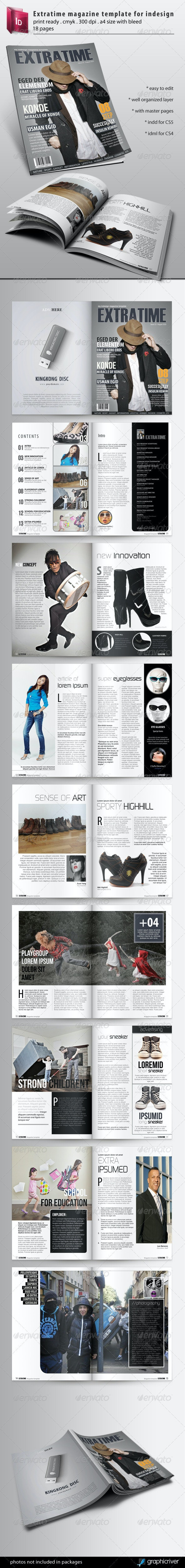 Extratime Magazine Template - Magazines Print Templates
