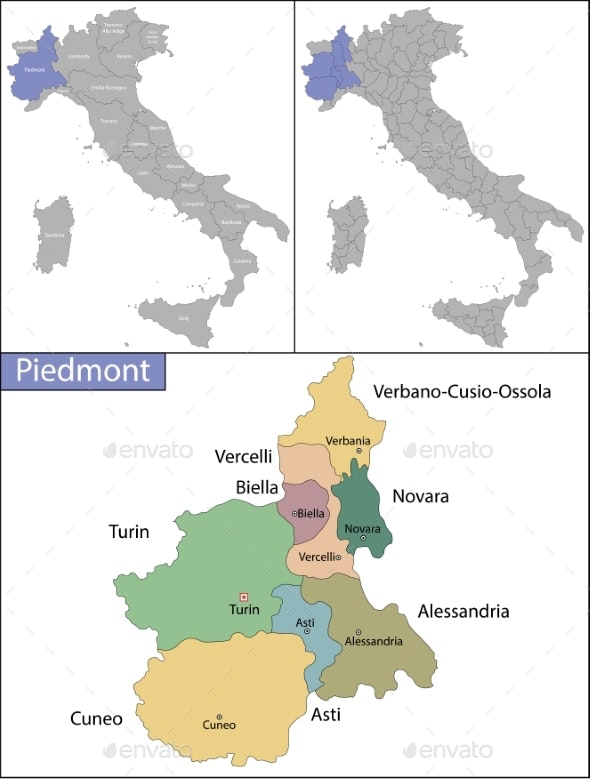 Piedmont Is a Region in Northwest Italy - Backgrounds Decorative