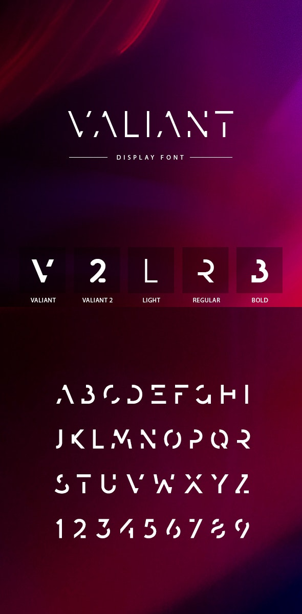 Valiant Font - Futuristic Decorative