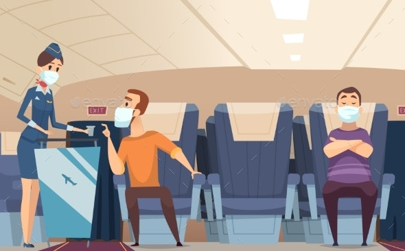 Aircraft Passengers Airplane Danger Risk - People Characters