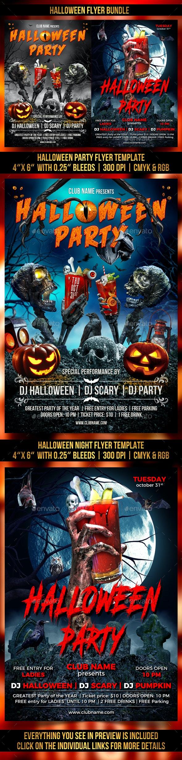 Halloween Bundle - Clubs & Parties Events