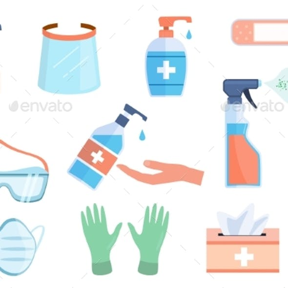 Hand Sanitizer Bottles Antiseptic