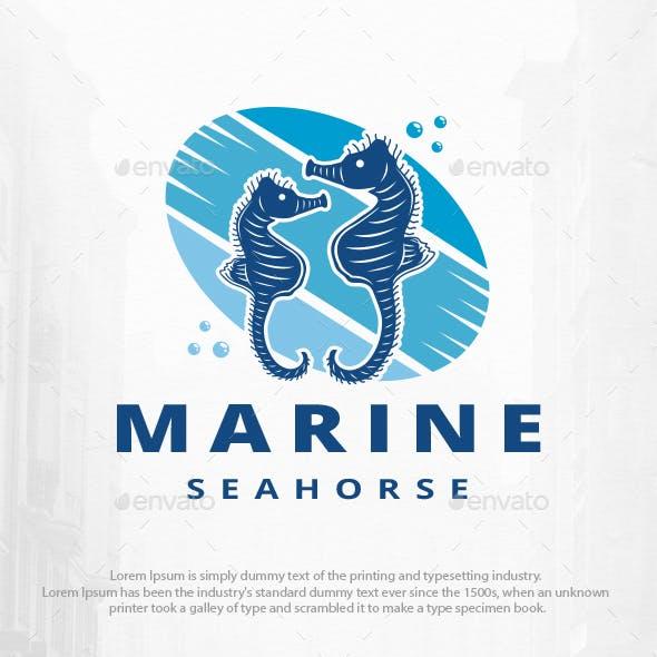Seahorses Logo Template