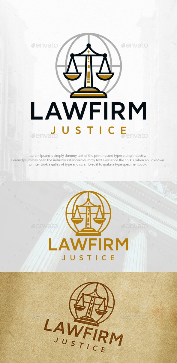 Global Law Firm Logo Template - Objects Logo Templates