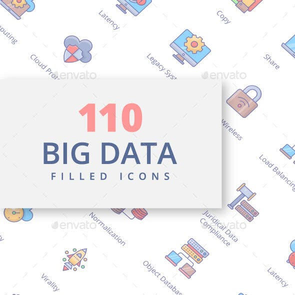 Big Data Filled Icons