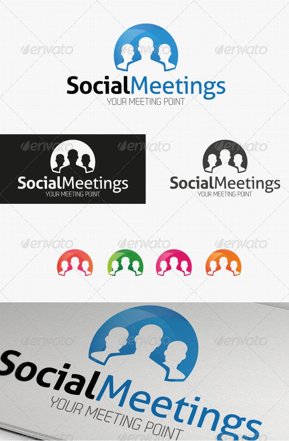 Social Meetings Logo - Humans Logo Templates