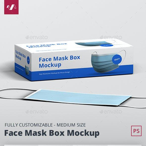 Face Mask Box Mockup Medium Size
