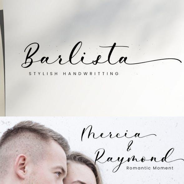 Barlista - Calligraphy Font
