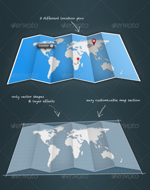 Fold-Up Map - Objects Illustrations