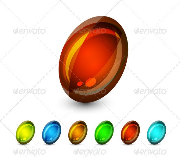 Color Glass Stones - Decorative Symbols Decorative