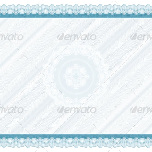 Blank diploma with bakground and rosette
