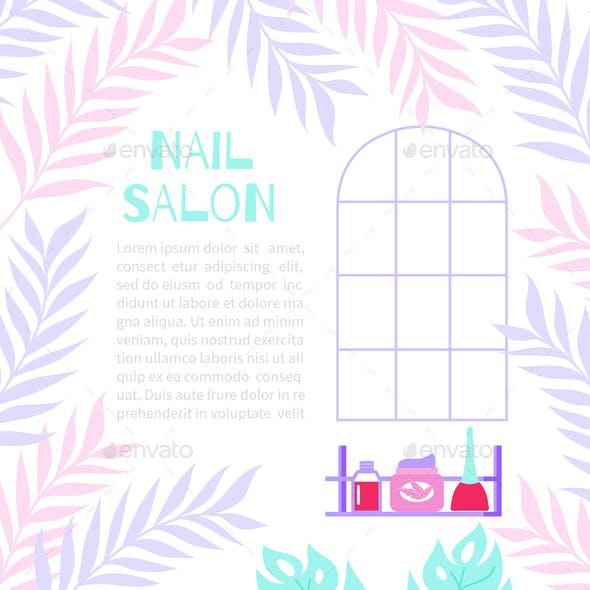 Manicure Banner Illustration