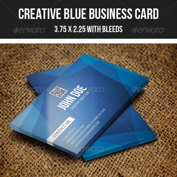 Creative Blue Business Card - 42