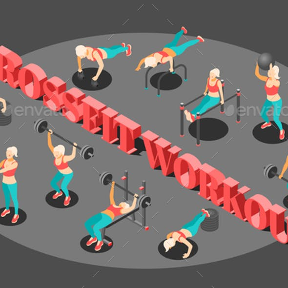 Workout Isometric  Background Composition