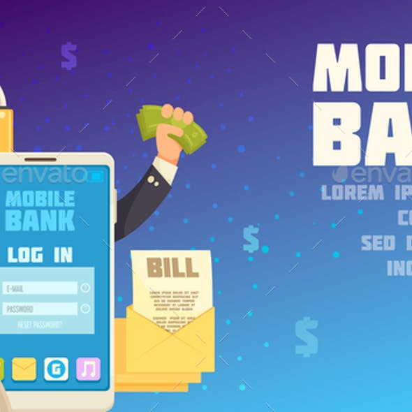 Mobile Bank Background