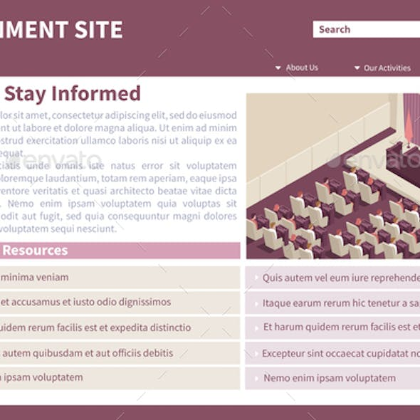 Parliament Government Isometric Website