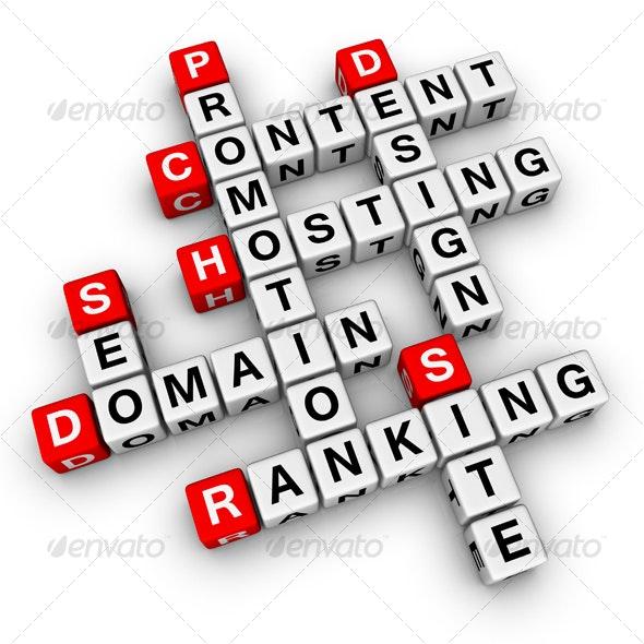 website promotion crossword - Technology 3D Renders