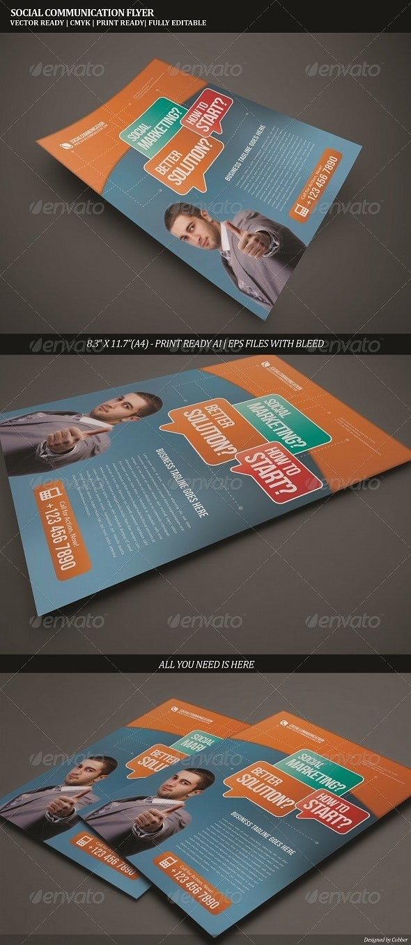 Communicate Corporate Flyer - Corporate Flyers