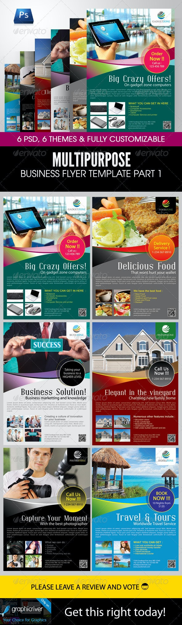 Multipurpose Business Flyer Template Part 1 - Corporate Flyers