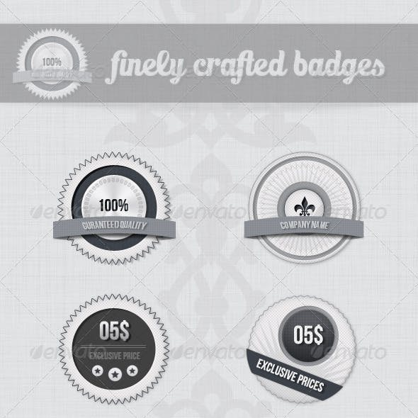 Clean And Simple Badges