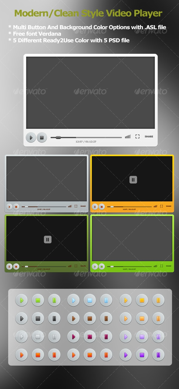 Video Player With .asl File - Miscellaneous Web Elements