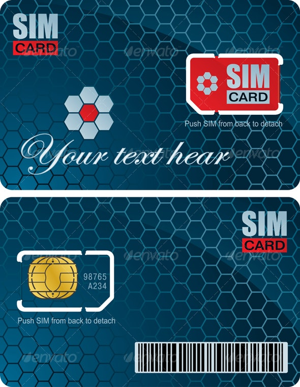 Sim card with carrier - Communications Technology
