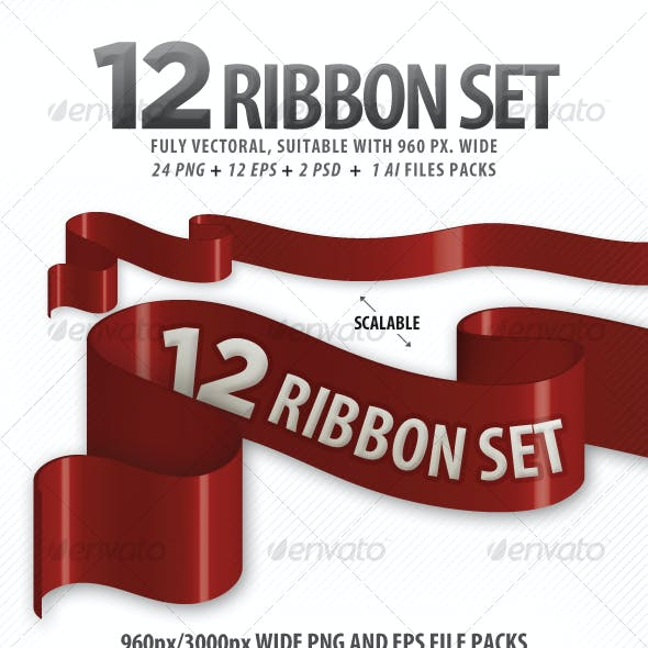 12 Ribbon Package (suitable 960 Grid System)