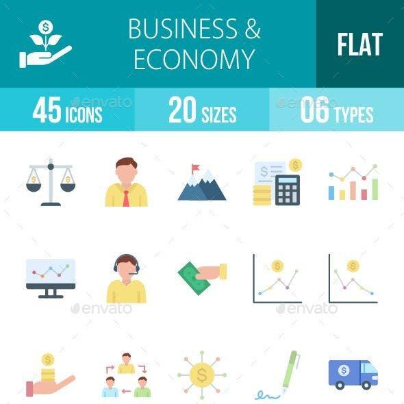 Business & Economy Flat Icons