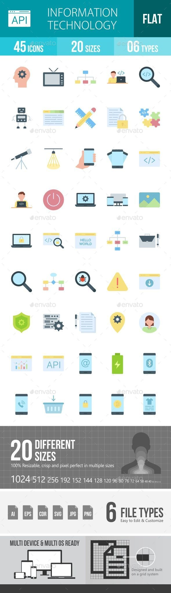 Information Technology Flat Icons - Icons