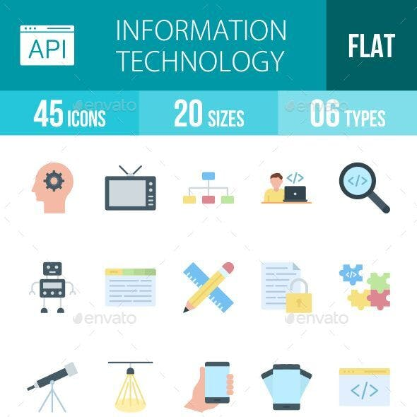 Information Technology Flat Icons