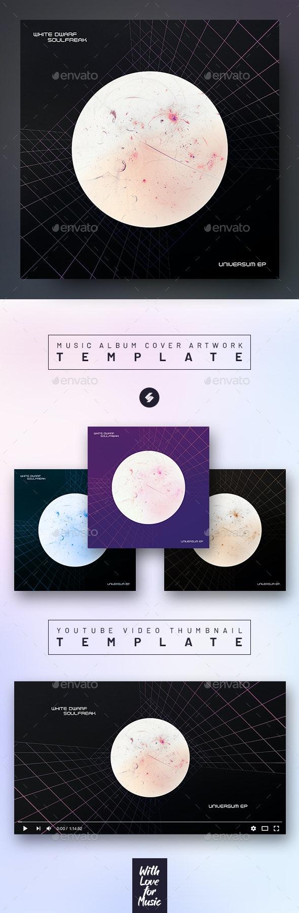 White Dwarf – Minimal Album Cover Artwork / Video Thumbnail Template - Miscellaneous Social Media