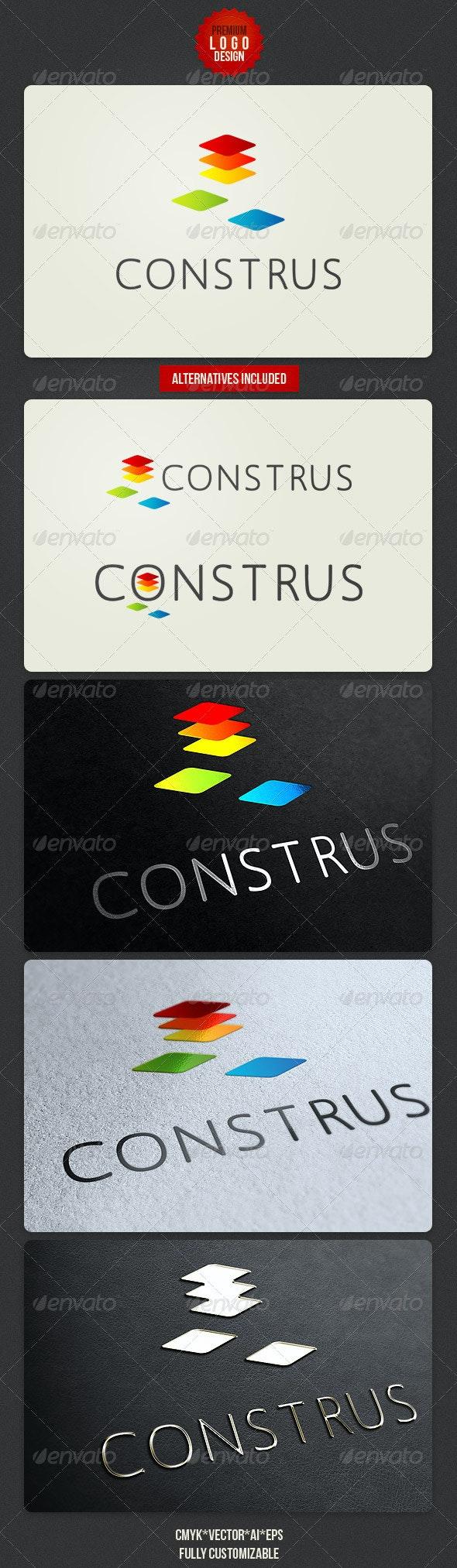 Construs Minimalistic Logo Design - Abstract Logo Templates