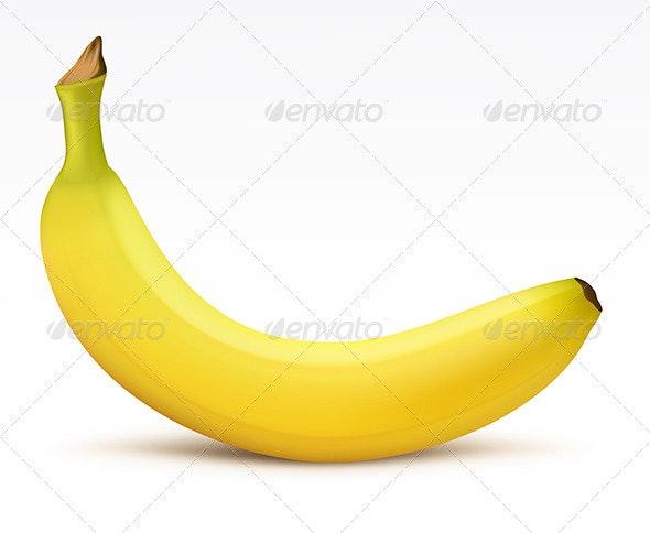 Yellow banana - Food Objects