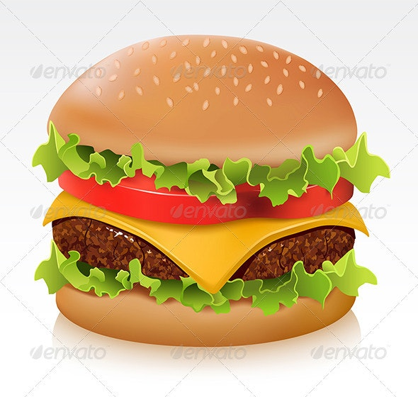 Delicious cheeseburger  - Food Objects