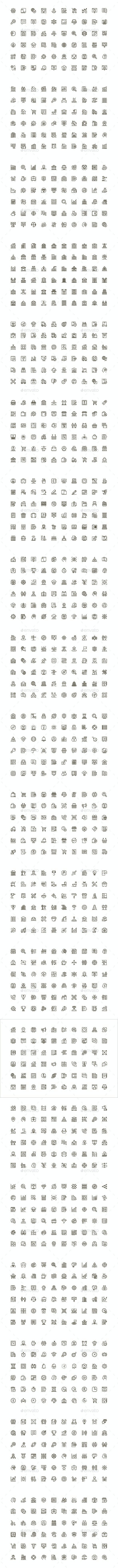 Unique Vector Line Icons Pack - Business Icons