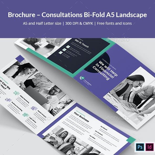 Brochure – Consultations Bi-Fold A5 Landscape
