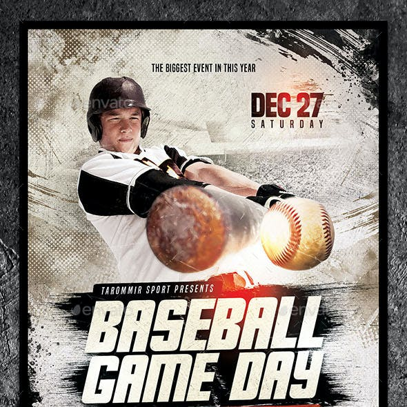 Baseball Game Day Flyer