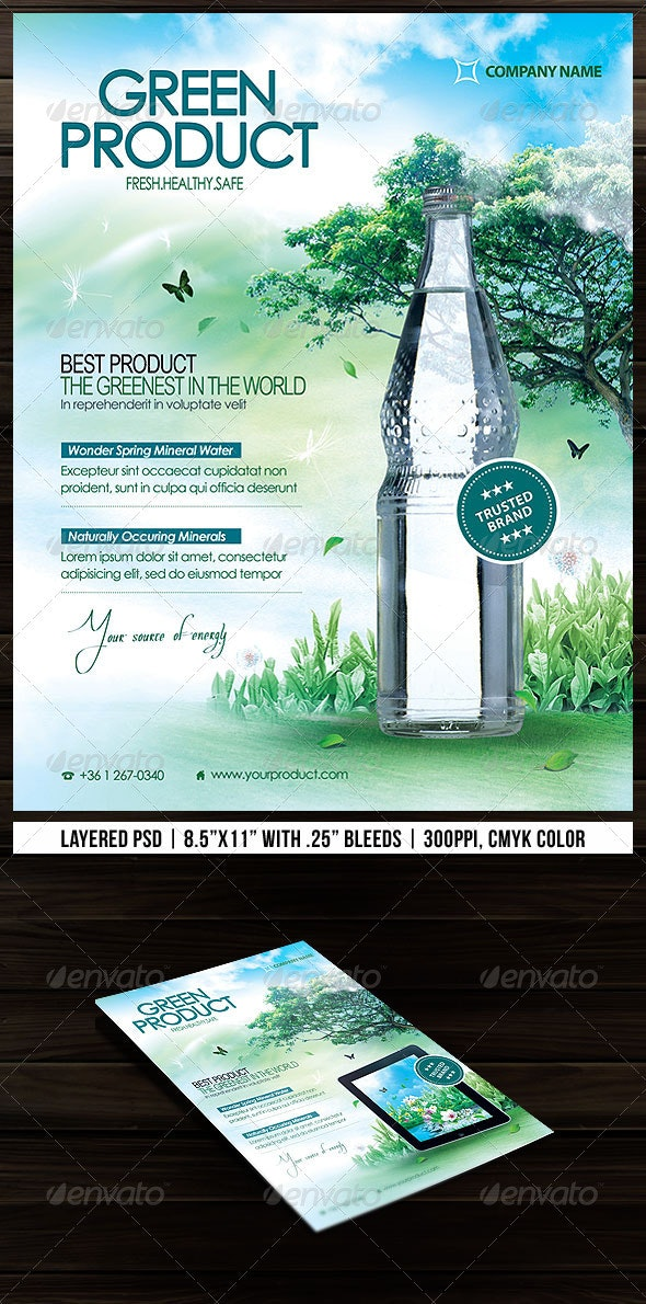Green Product Flyer - Commerce Flyers