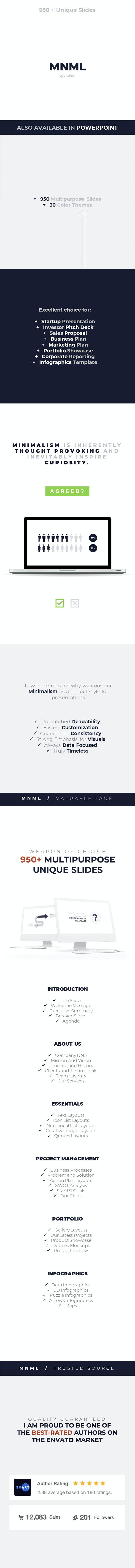 MNML - Google Slides Presentation Template