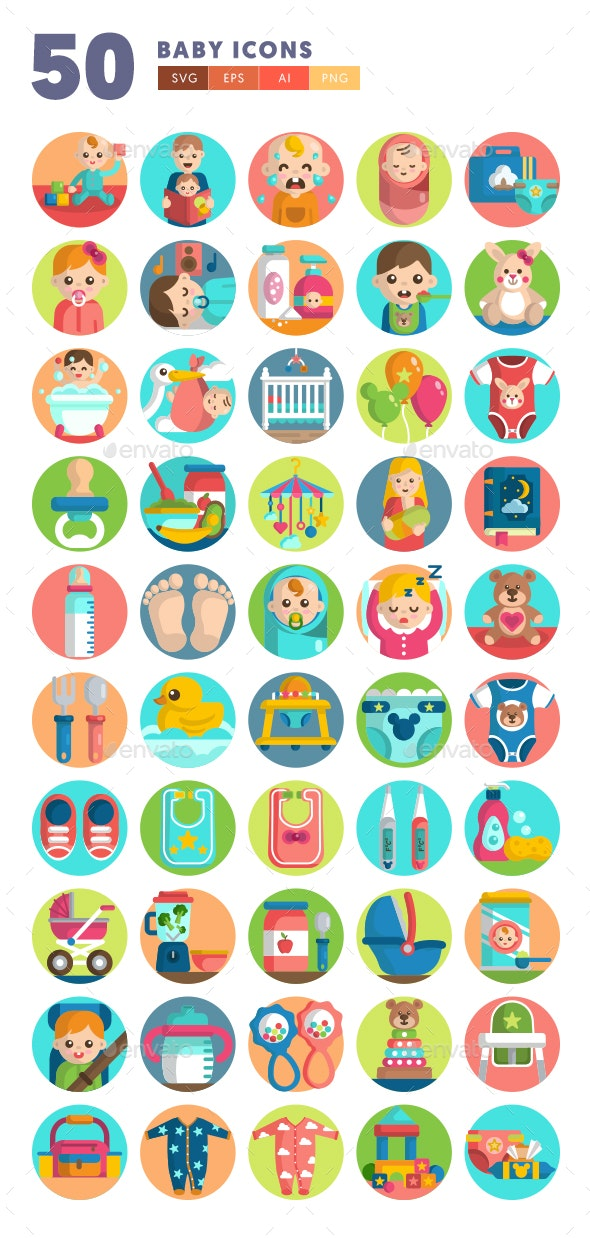 50 Baby Icons - Icons