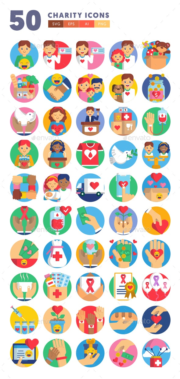 50 Charity Icons - Icons