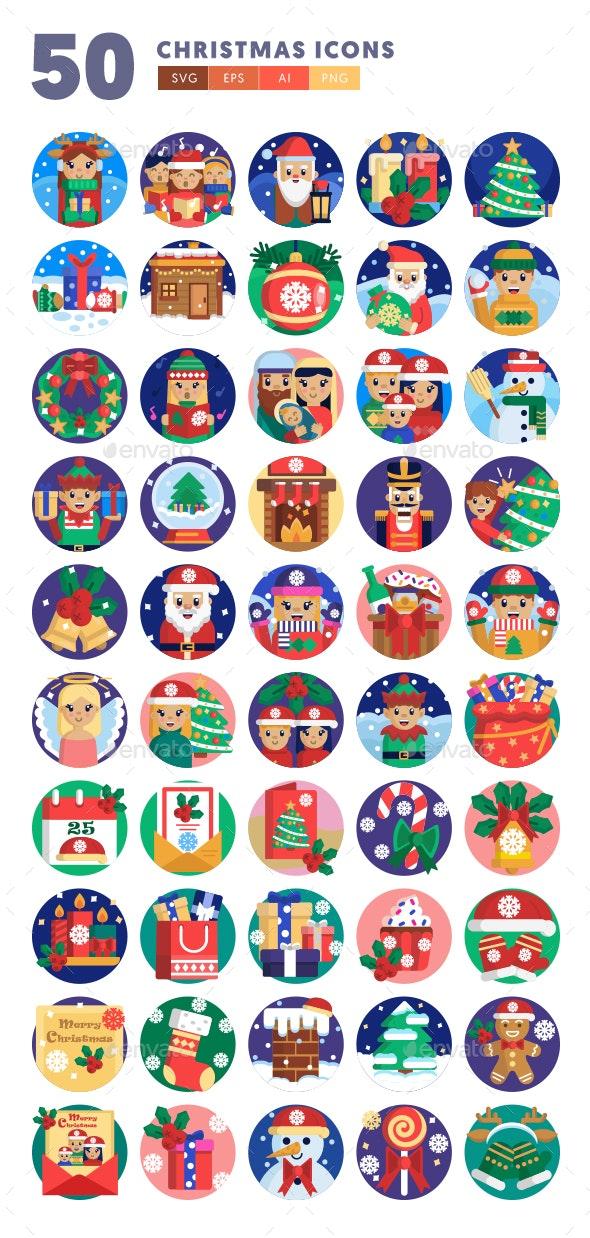 50 Christmas Icons - Icons