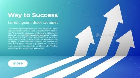 Business Arrow Target Direction Concept To Success - Business Conceptual