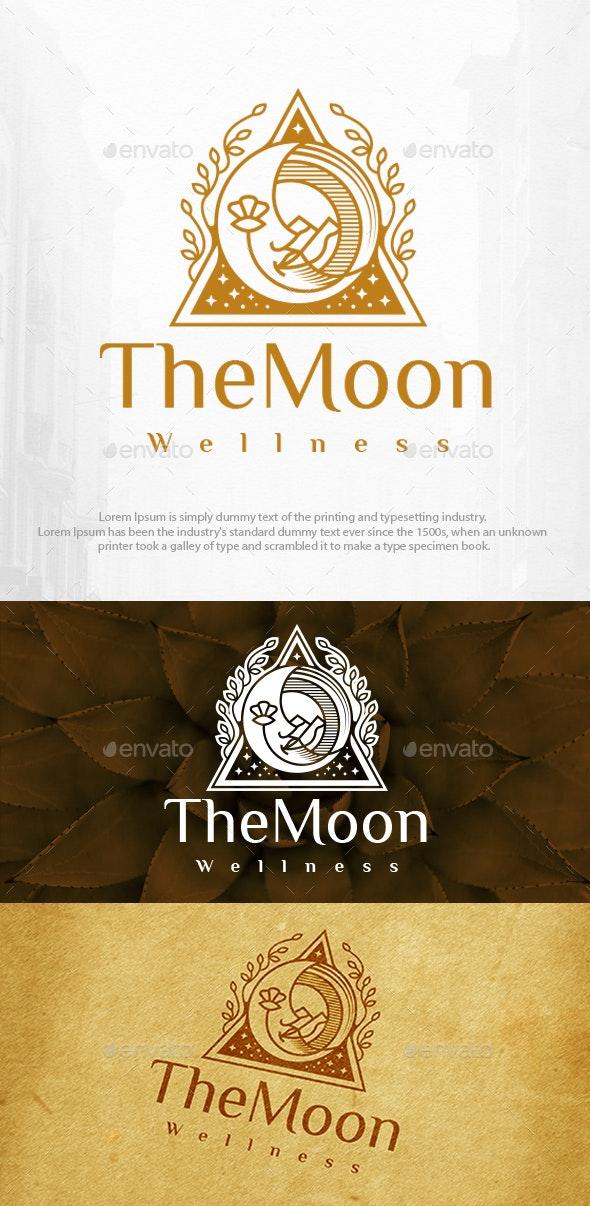 Moon Face Beauty Logo Template - Symbols Logo Templates
